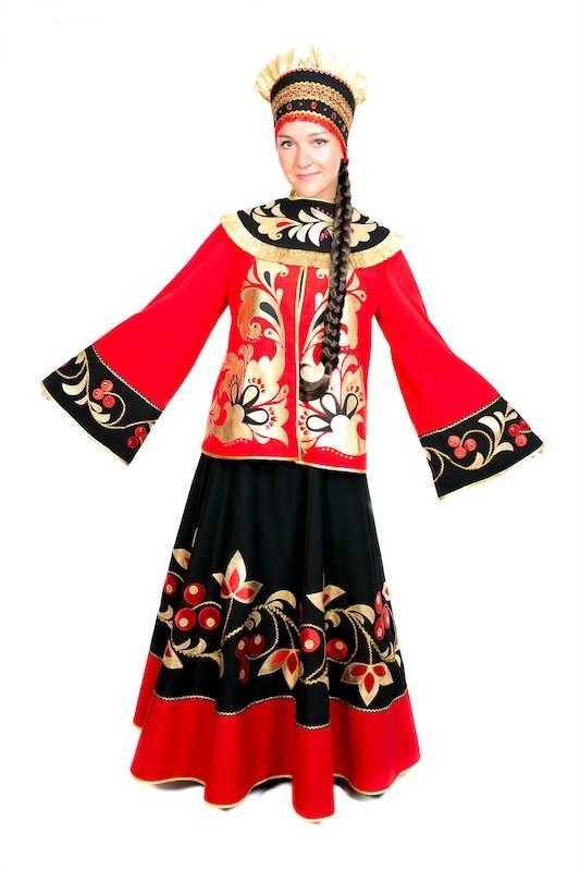 Хохлома, женский костюм