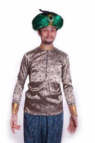 Восточный костюм сборный с изумрудной чалмой