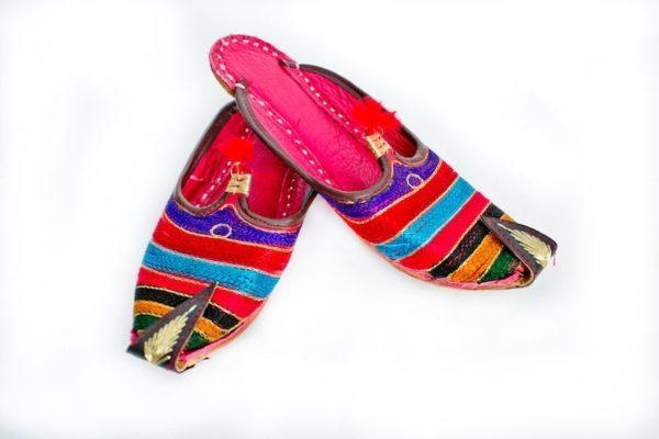 Ботинки индия полосатые