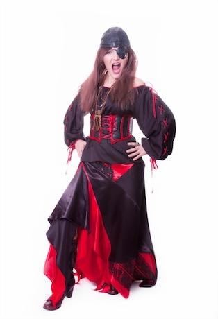 Пиратка черная с красным