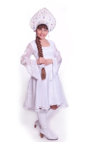 Снегурочка-девочка с кокошником