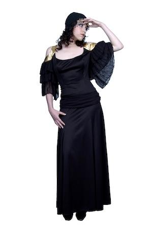 Итальянская мафия платье черное с золотом