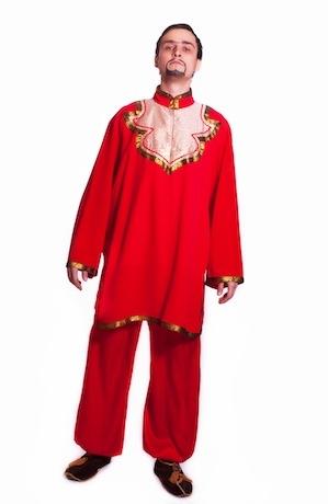 Восточный костюм красный, сборный