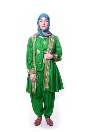 Восточный костюм зеленый женский