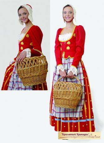 Датский национальный костюм красный
