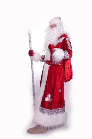 Дед Мороз красный бархат