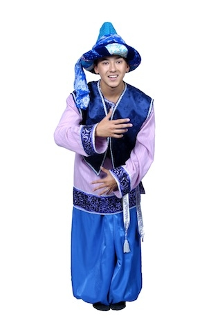 Восточный костюм сборный синий