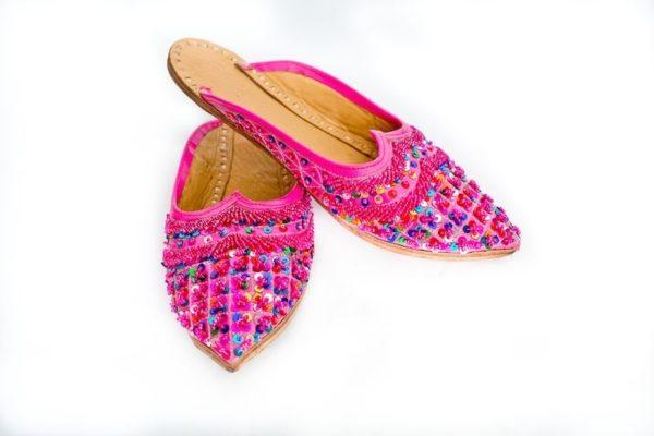 Ботинки Индия розовые