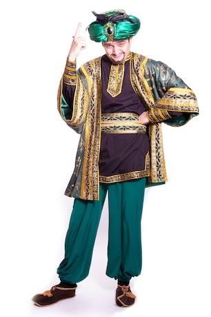 Восточный костюм зеленый