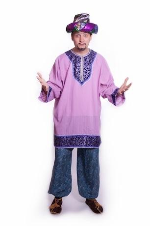 Восточный костюм сборный с сиреневой рубахой