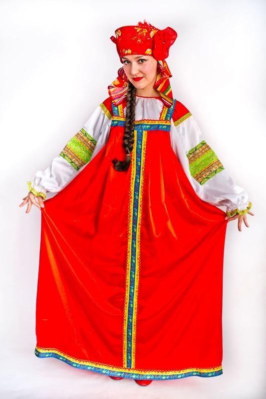 Русский красный сарафан 4шт