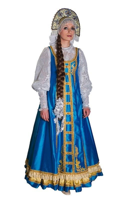 Русский костюм бирюзовый